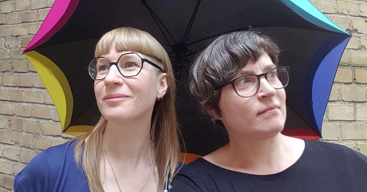Nene Ormes och Karin Waller