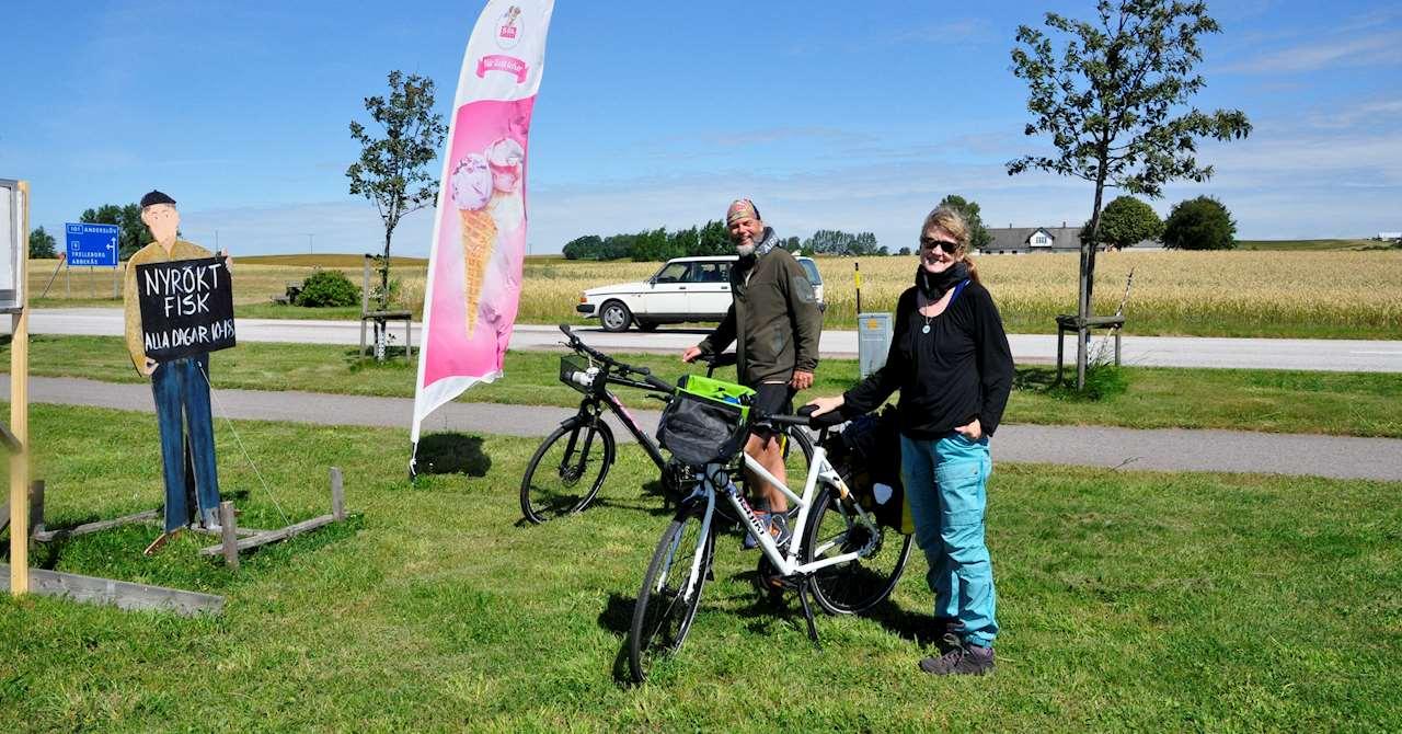 Författarparet Alesmark & Joelsson på tur i Skåne